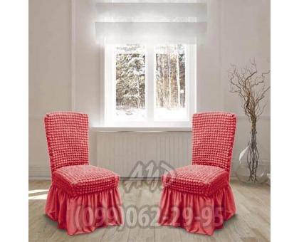 Чехол для стульев коралловый (комплект 4 шт.)