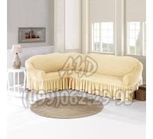 Чехол для углового дивана кремовый