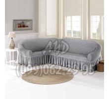 Чехол для углового дивана серый