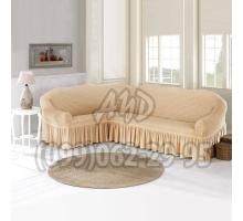 Чехол для углового дивана натуральный