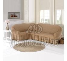 Чехол для углового дивана песочный