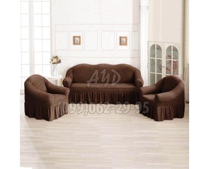 Чехлы для дивана и 2-х кресел пудровые