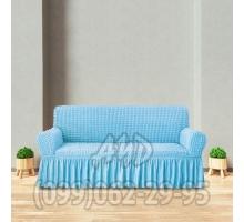 Чехол для дивана голубой