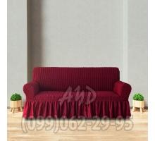 Чехол для дивана бордовый
