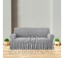 Чехол для дивана серый