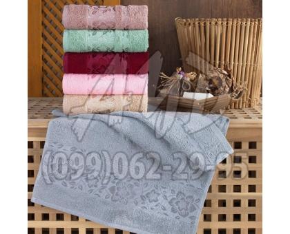 """Бамбуковые полотенца """"Флоретта"""" банные 70x140 (набор 6 шт.)"""